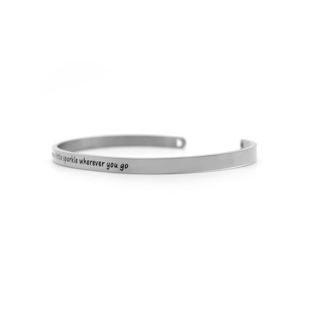 Leave A Little Sparkle Wherever You Go Silver Mantra Band