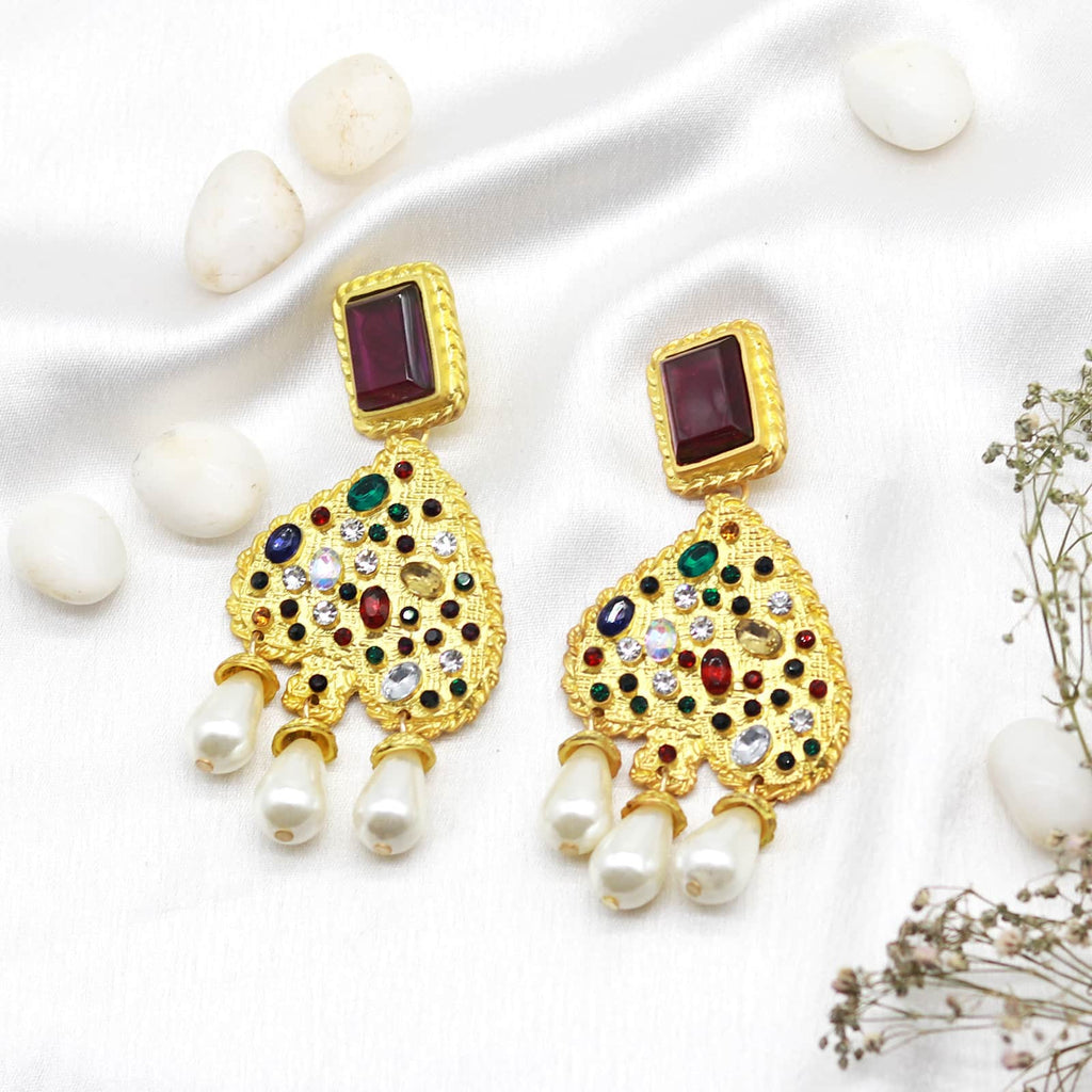 Noah  Multi-coloured gold earrings - Joker & Witch