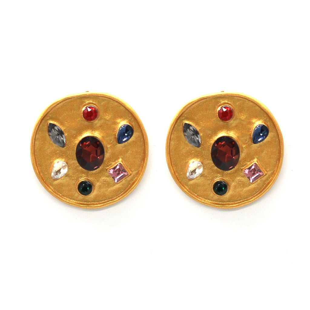 Gemmy Multi stone Gold earrings - Joker & Witch