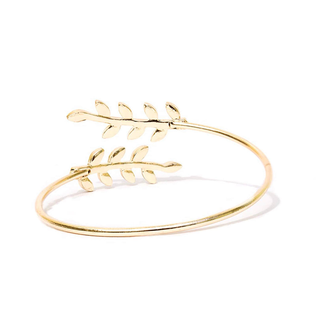 Grecian Leaves Gold Bracelet - Joker & Witch