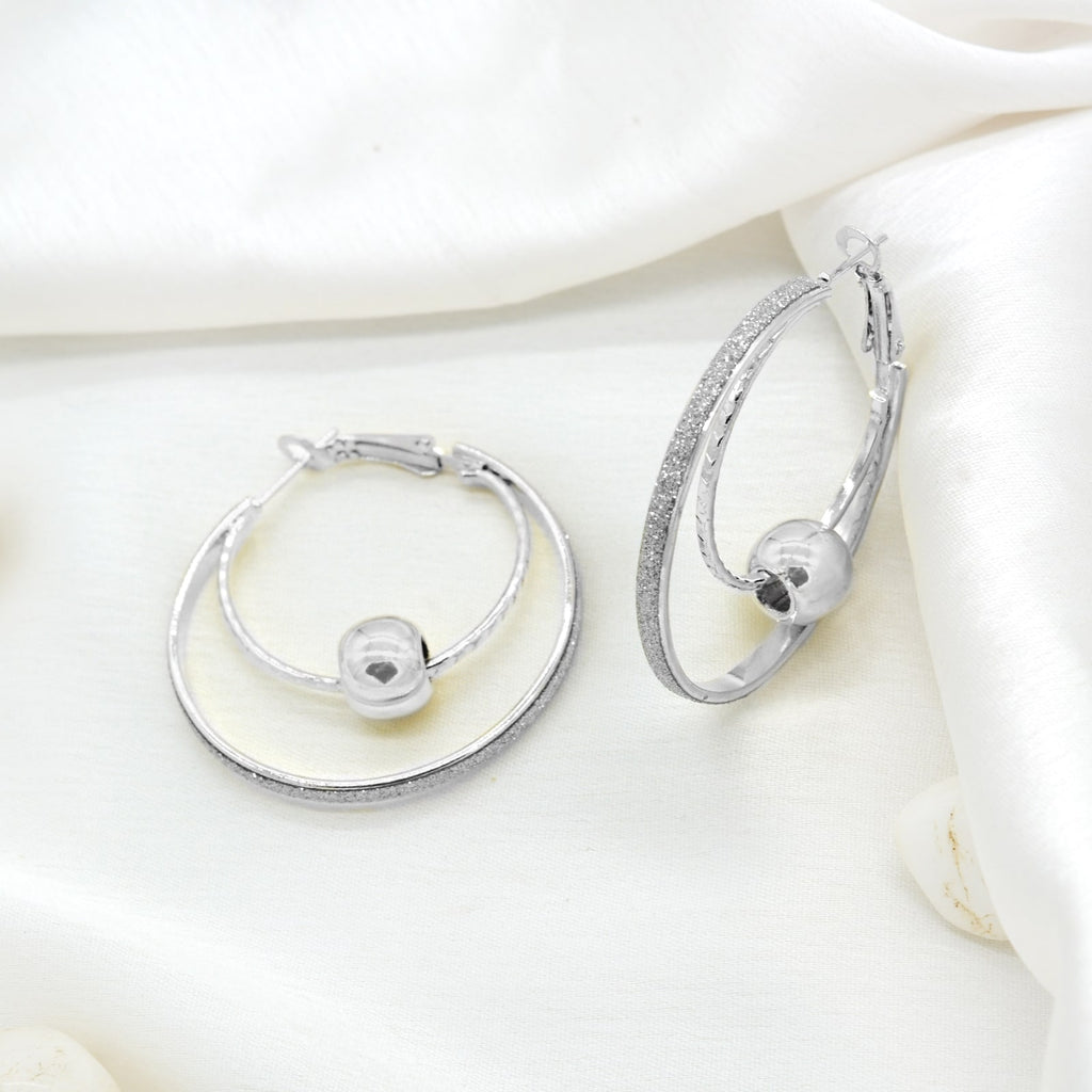 Bling Ball Silver Hoops - Joker & Witch