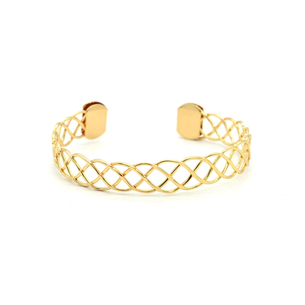Alidia Twisted Gold Cuff - Joker & Witch