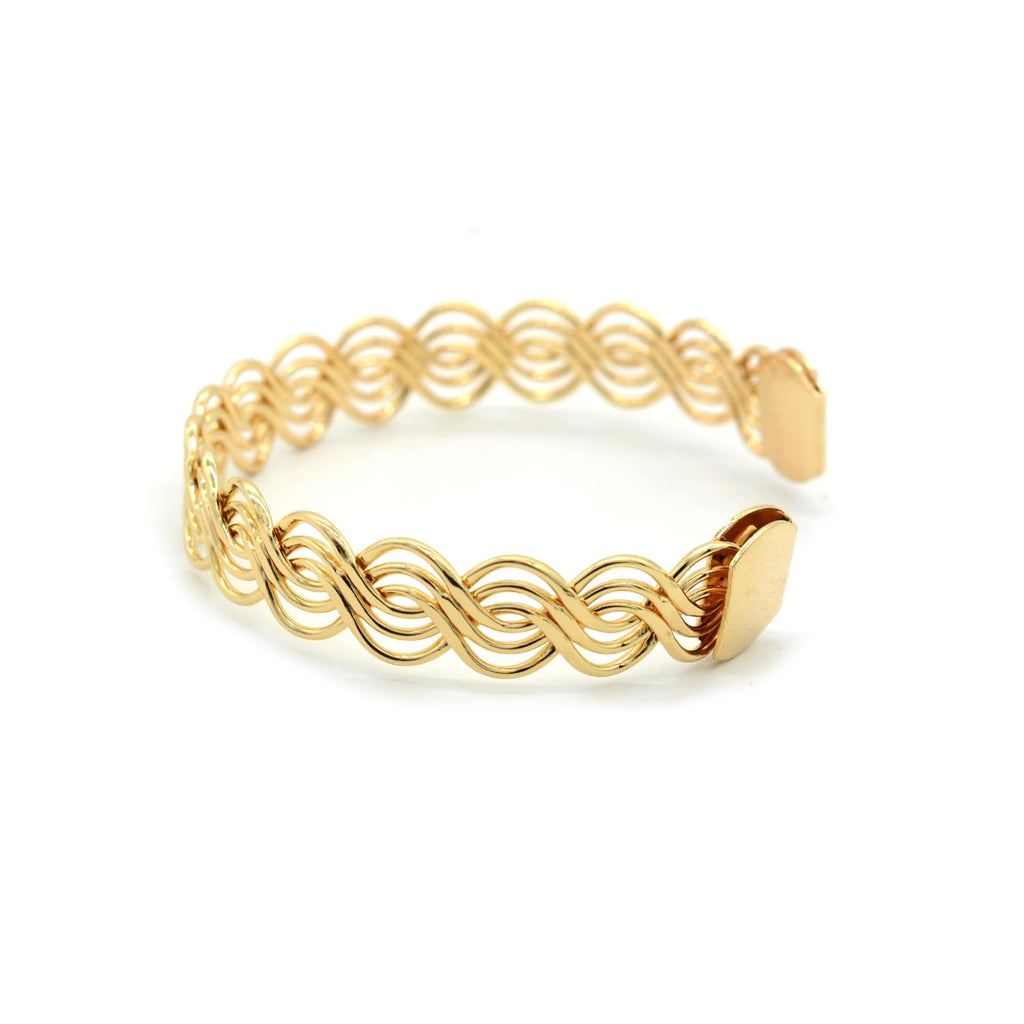 Alvina Twisted Gold Cuff - Joker & Witch