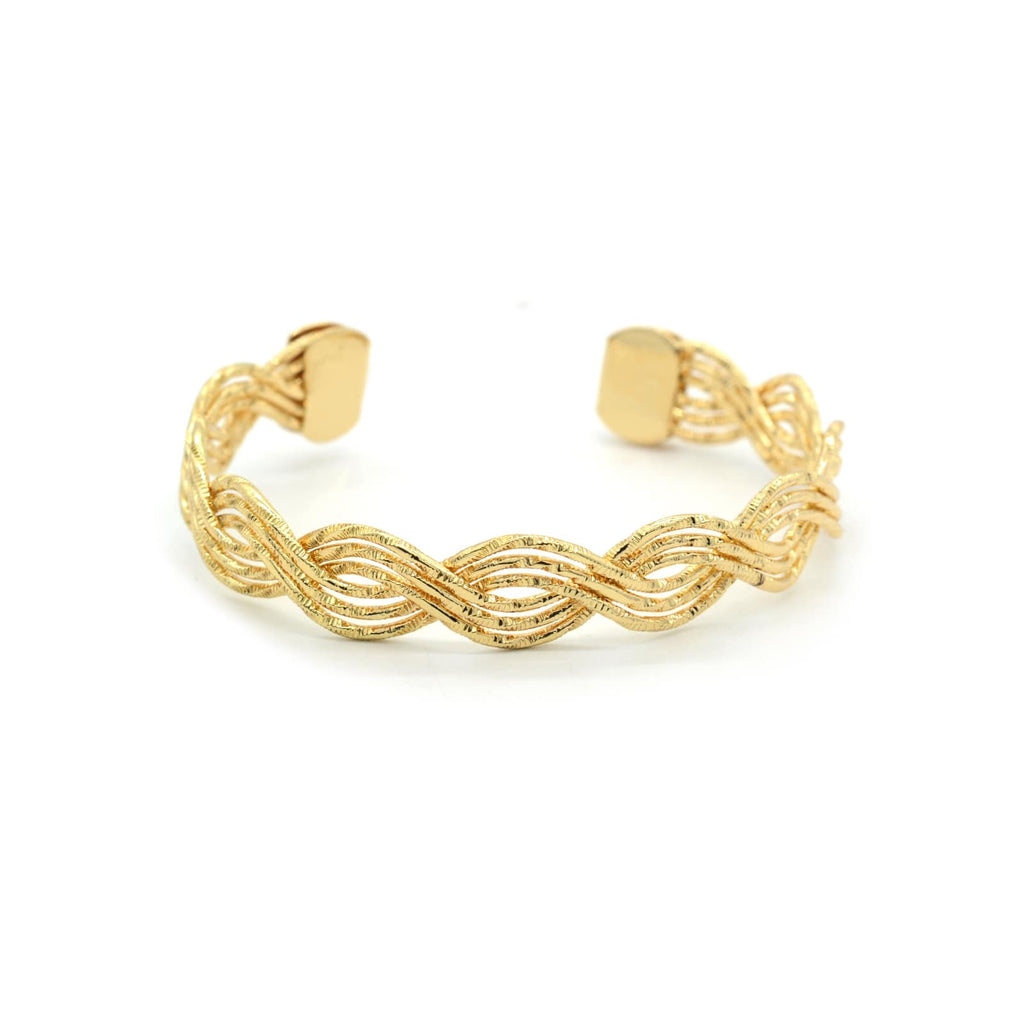 Ashley Twisted Gold Cuff - Joker & Witch