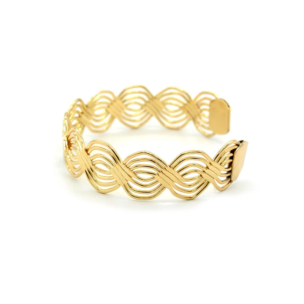 Cecilia Twisted Gold Cuff - Joker & Witch