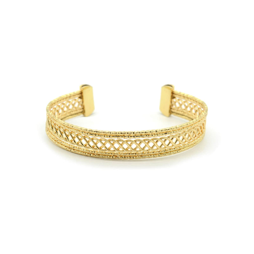 Gina Filigree Detail Gold Cuff - Joker & Witch