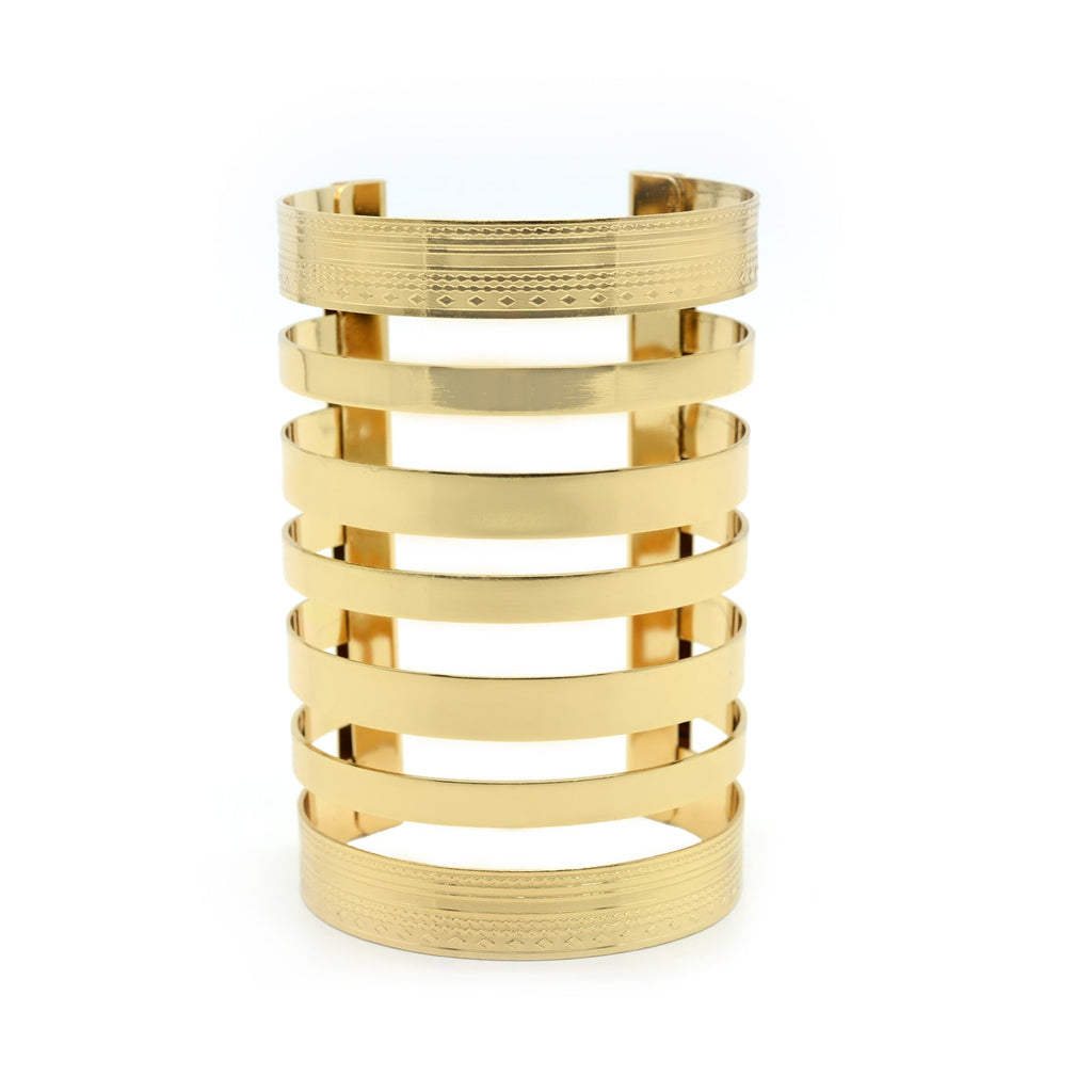 Nora Statement Gold Cuff - Joker & Witch