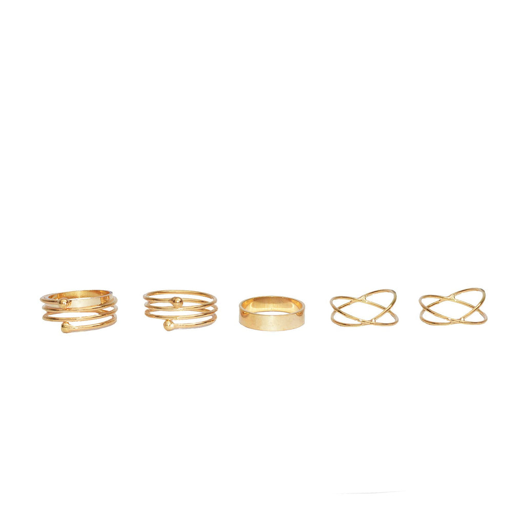 Galactic Gold Midi Rings - Joker & Witch - 5