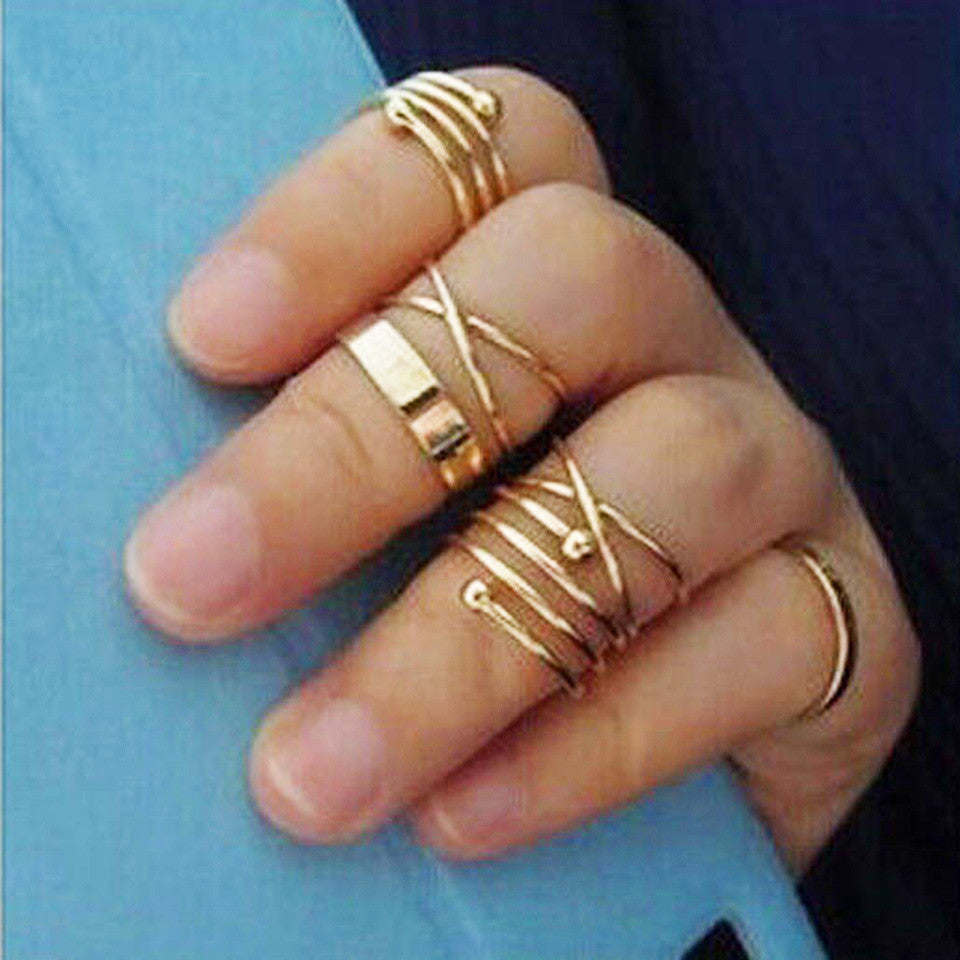 Galactic Gold Midi Rings - Joker & Witch - 7