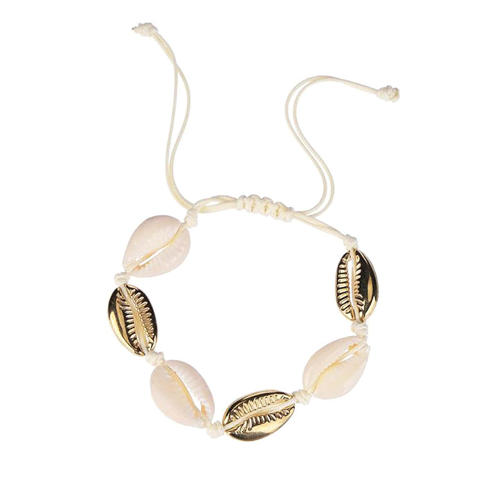 White & Gold Shells Set of 3 Bracelets - Joker & Witch