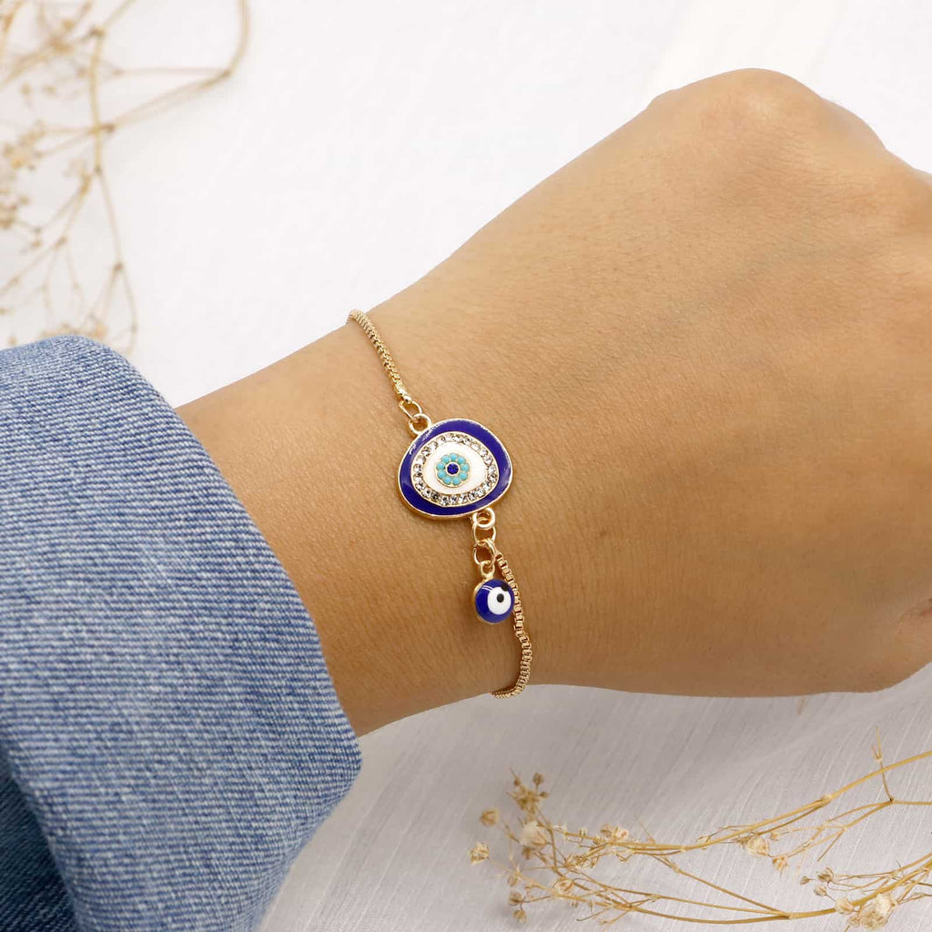 Julia Evil Eye Gold Bracelet - Joker & Witch