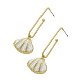 Hera Shell Drop Gold Earrings - Joker & Witch