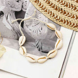 Delia White Shell Bracelet/Anklet - Joker & Witch