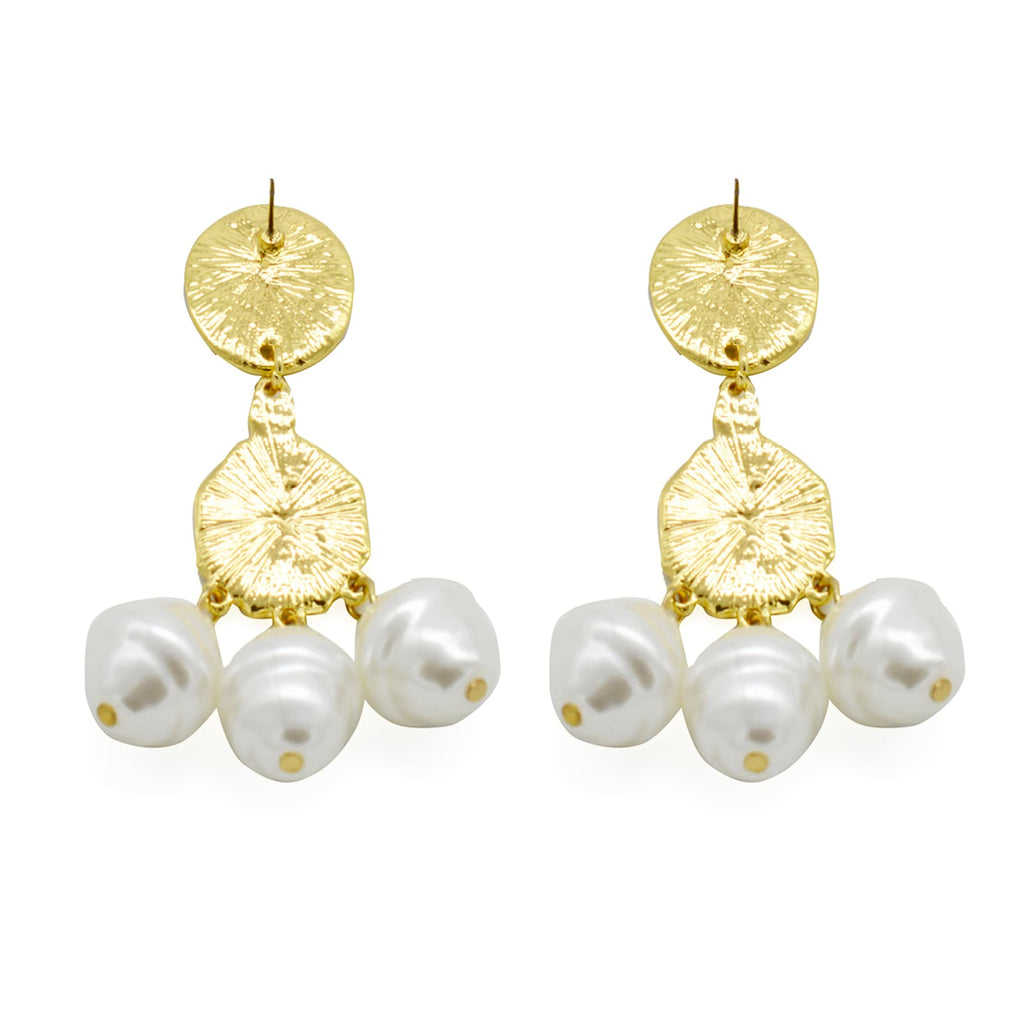 Swirly Pearl Earrings - Joker & Witch