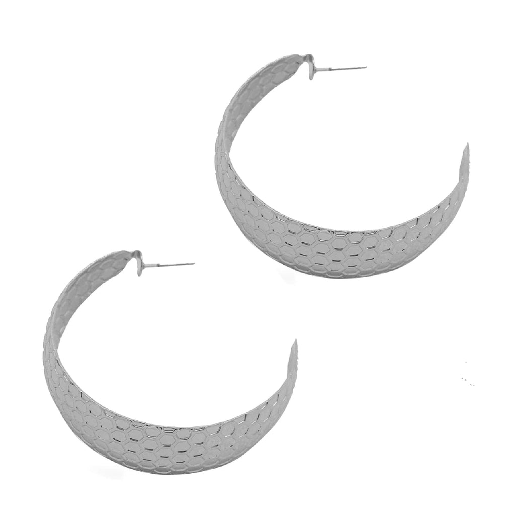 Crescent Silver Hoops - Joker & Witch