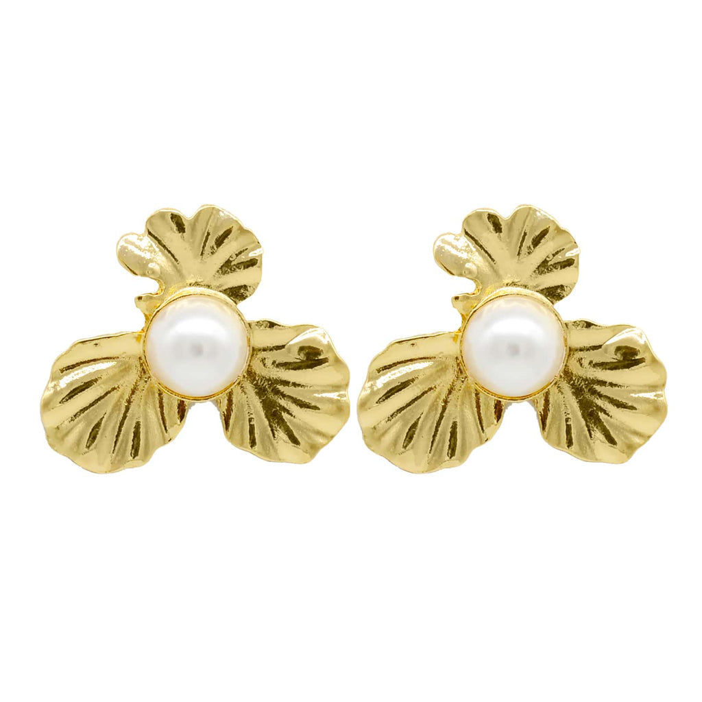 Petal Pearl Flower Earrings - Joker & Witch