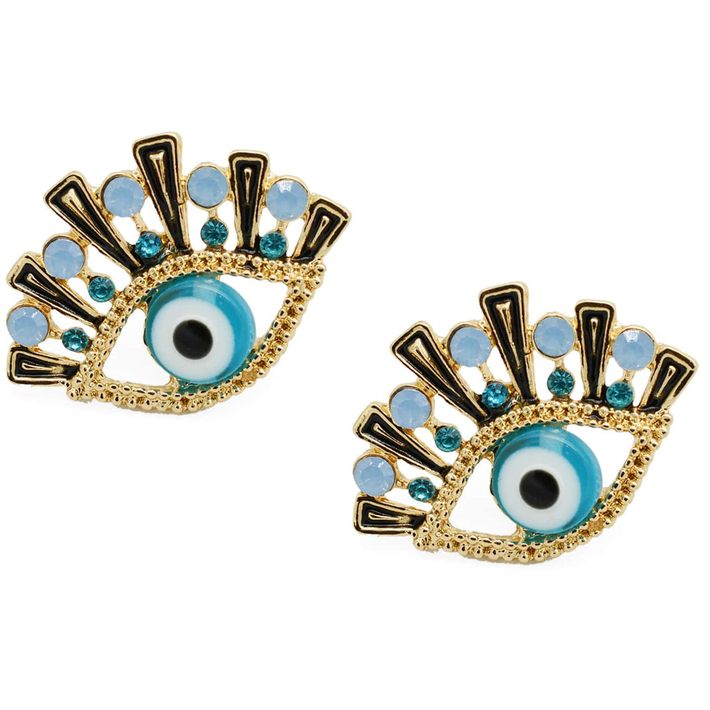 Quinn Evil Eye Gold Earrings - Joker & Witch