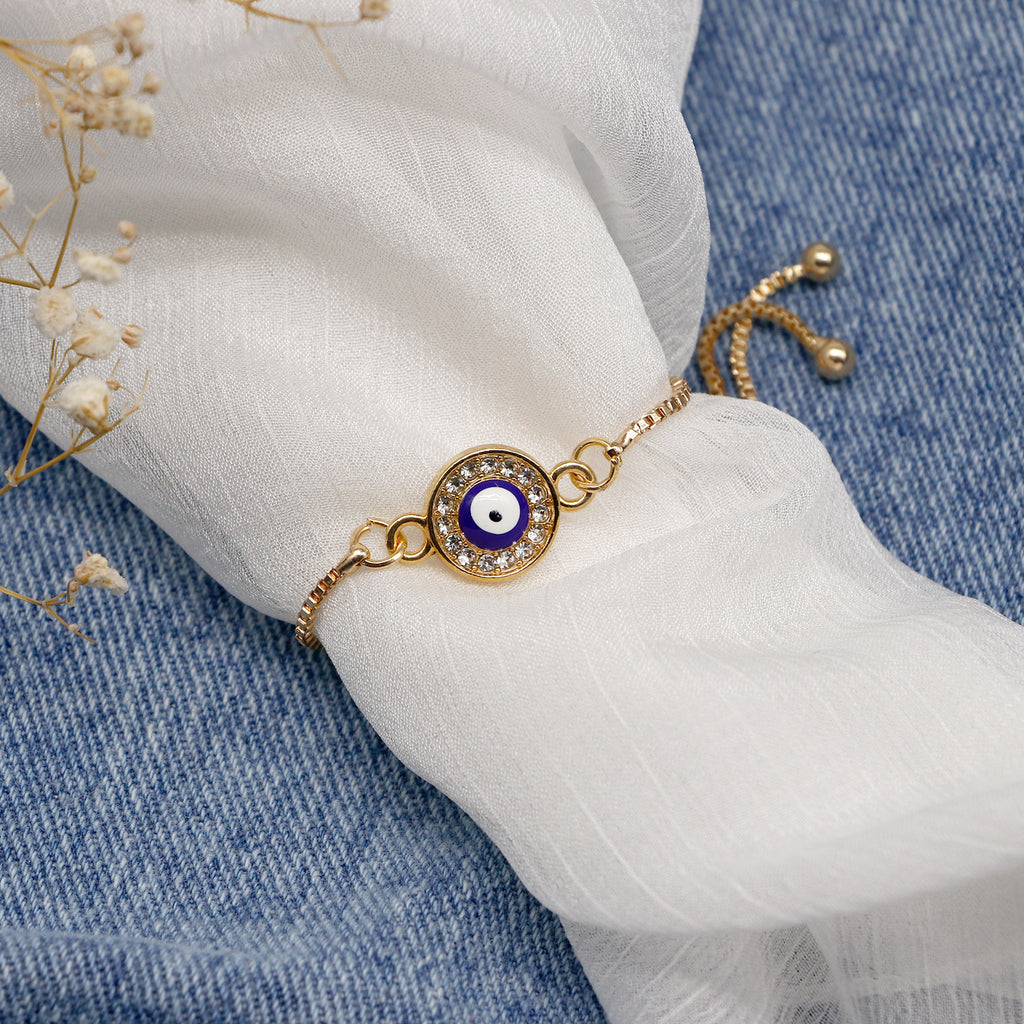 Ojo Evil Eye Gold Bracelet