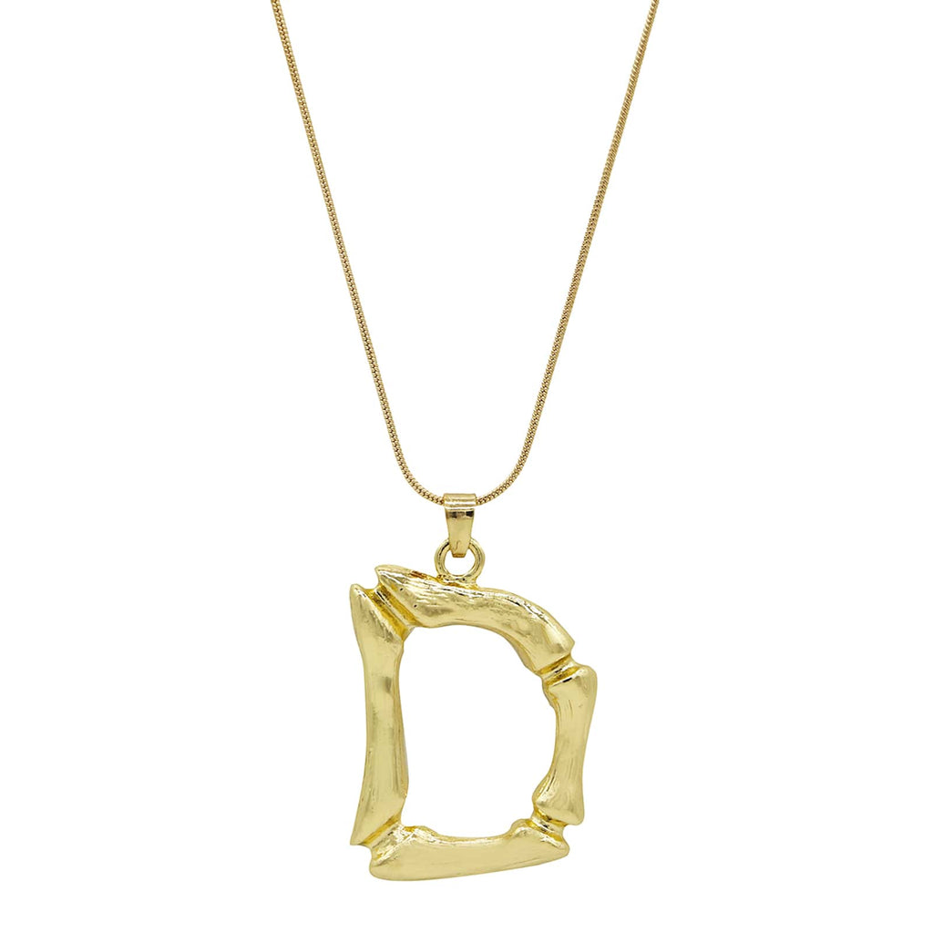 D Initial Pendant Necklace - Joker & Witch