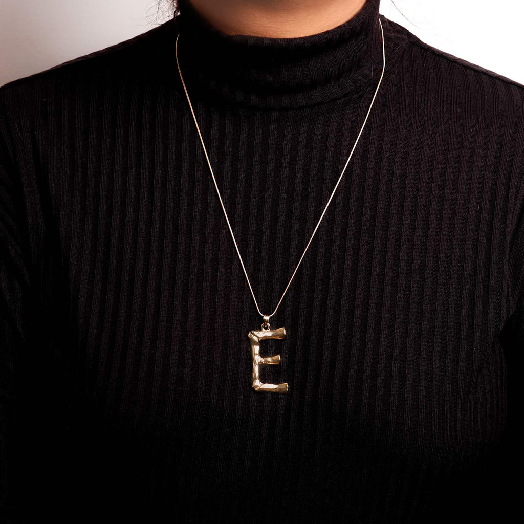 E Initial Pendant Necklace - Joker & Witch