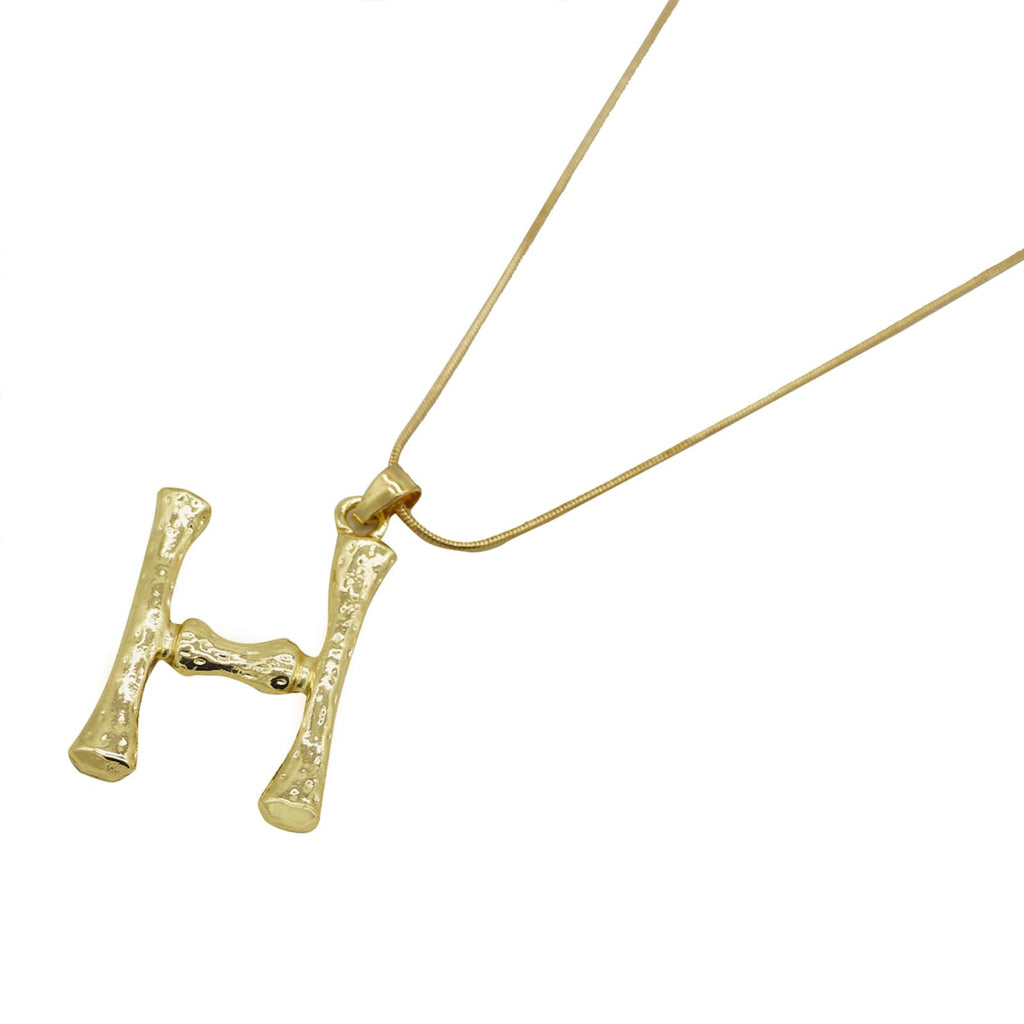 H Initial Pendant Necklace - Joker & Witch