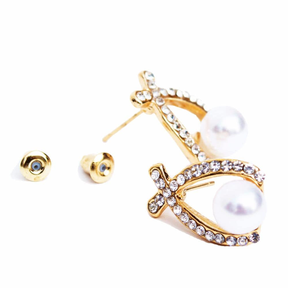 Pretty Pearl Ear studs - Joker & Witch - 2