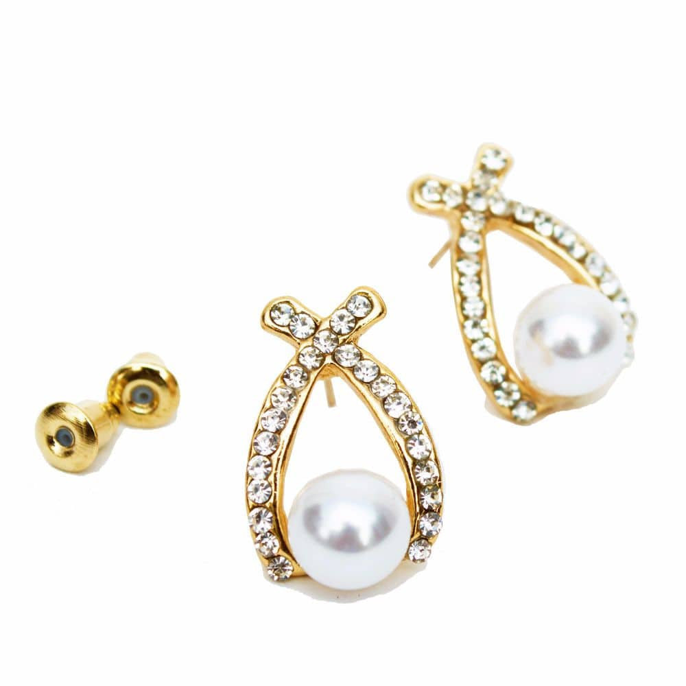 Pretty Pearl Ear studs - Joker & Witch