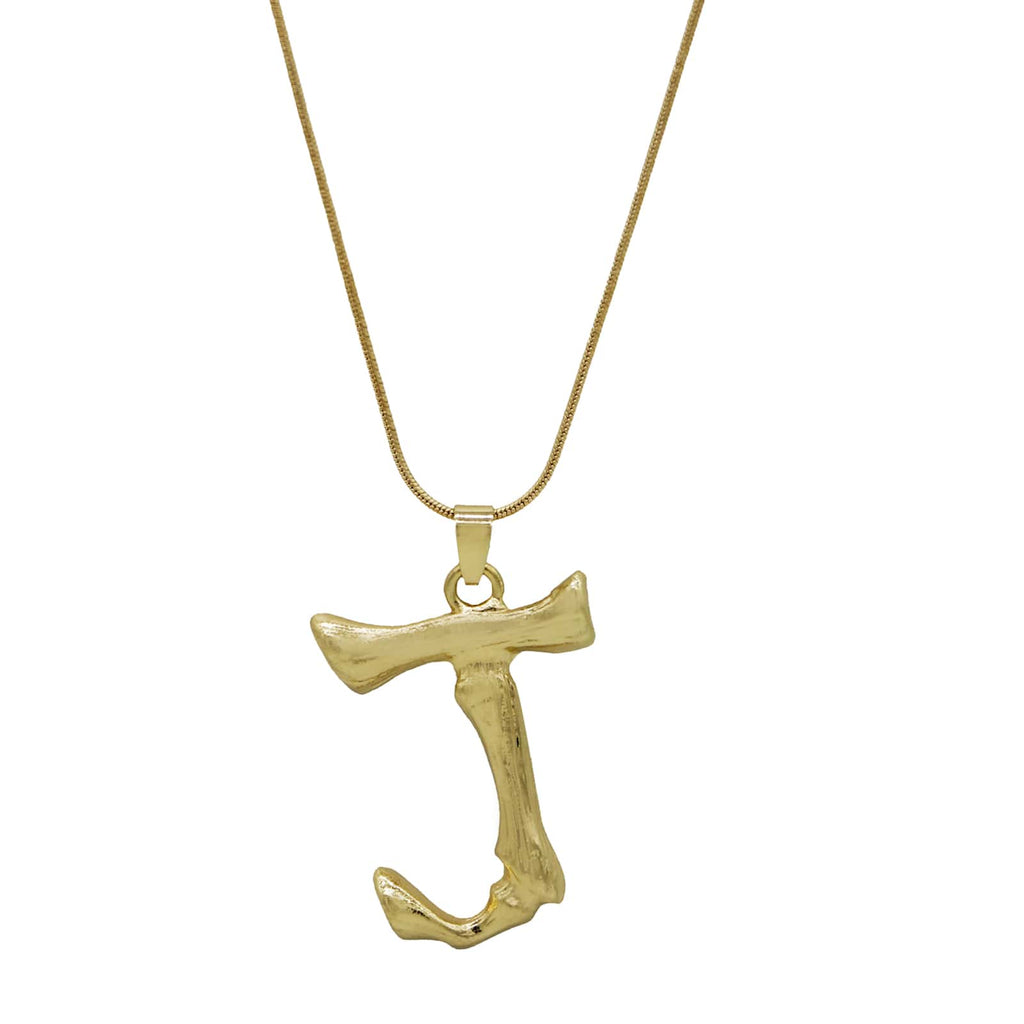 J Initial Pendant Necklace - Joker & Witch