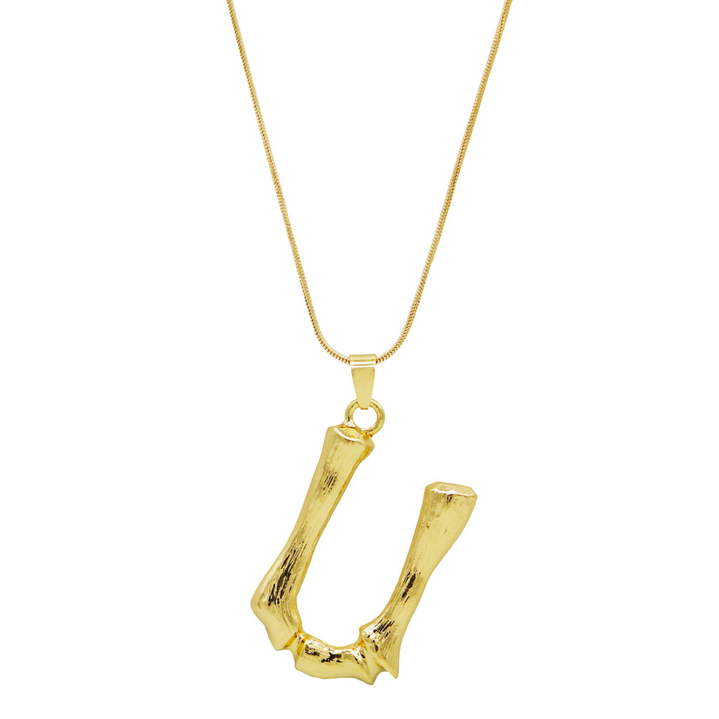 U Initial Pendant Necklace - Joker & Witch