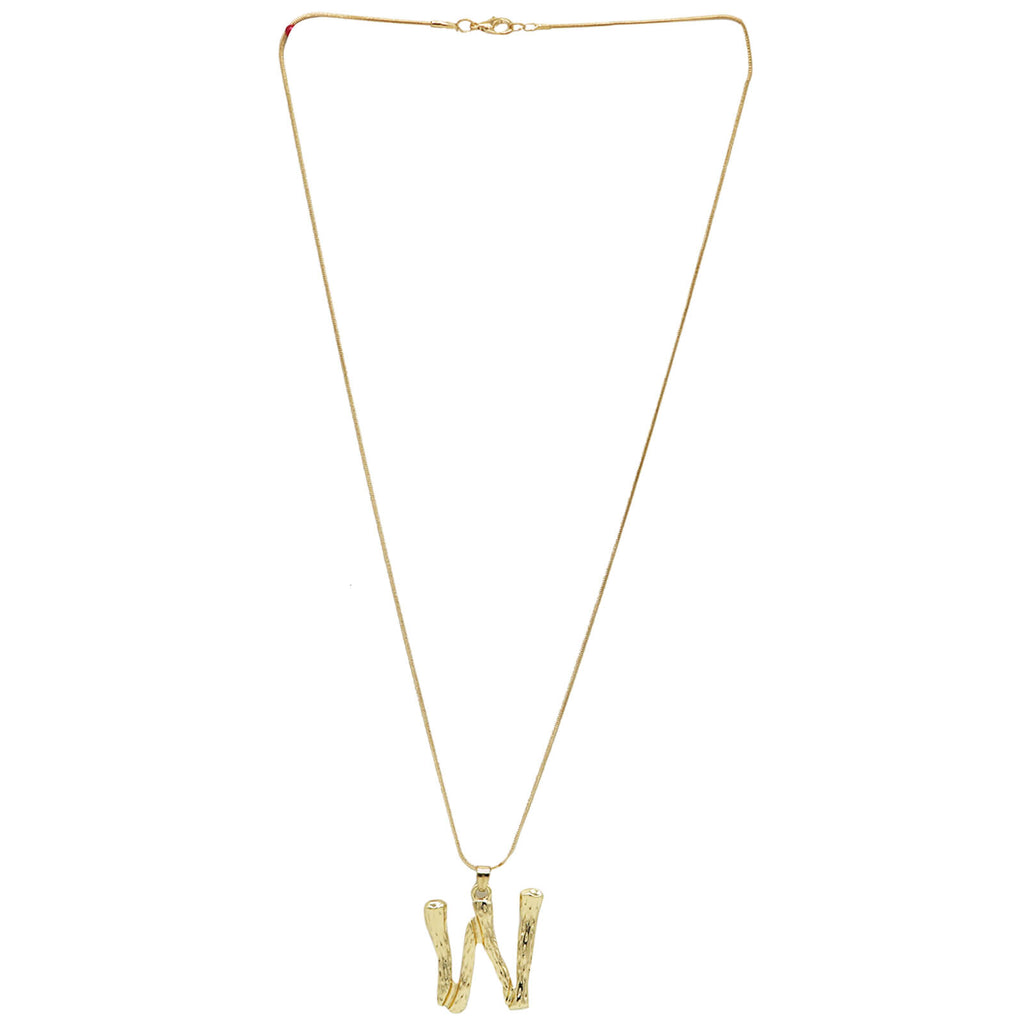 W Initial Pendant Necklace - Joker & Witch