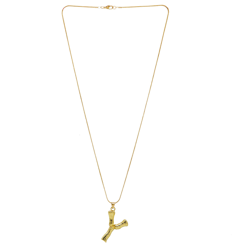 Y Initial Pendant Necklace - Joker & Witch