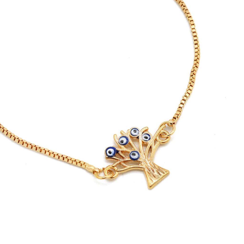 Esa Evil Eye Gold Bracelet - Joker & Witch