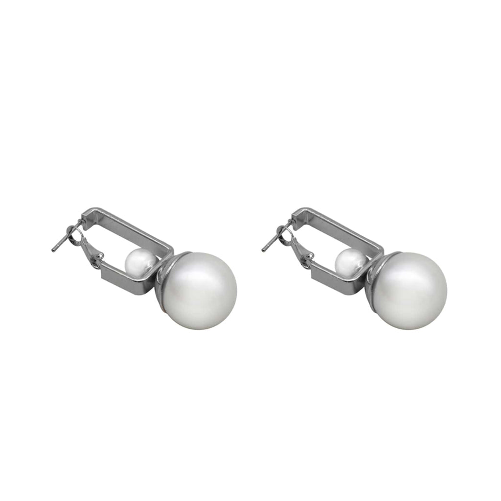 Gia Pearl Drop Silver Earrings
