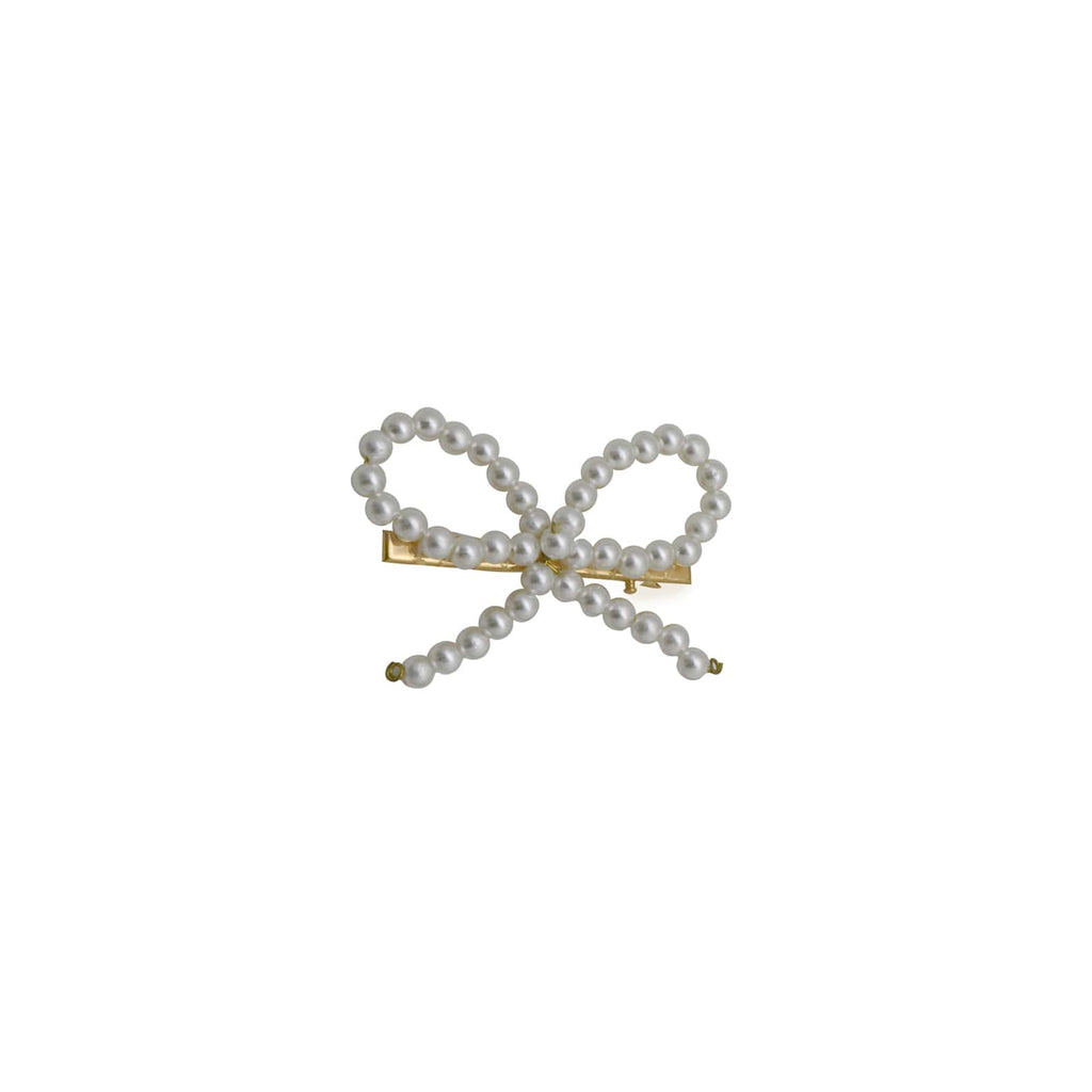 Pretty Bow Pearl Hair Pin
