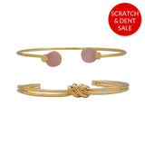 Amelia Pink Set of 2 Gold Bracelets - Sample