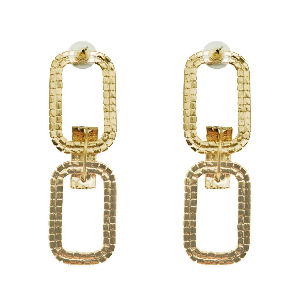 Party Tonight Bling Gold Earrings