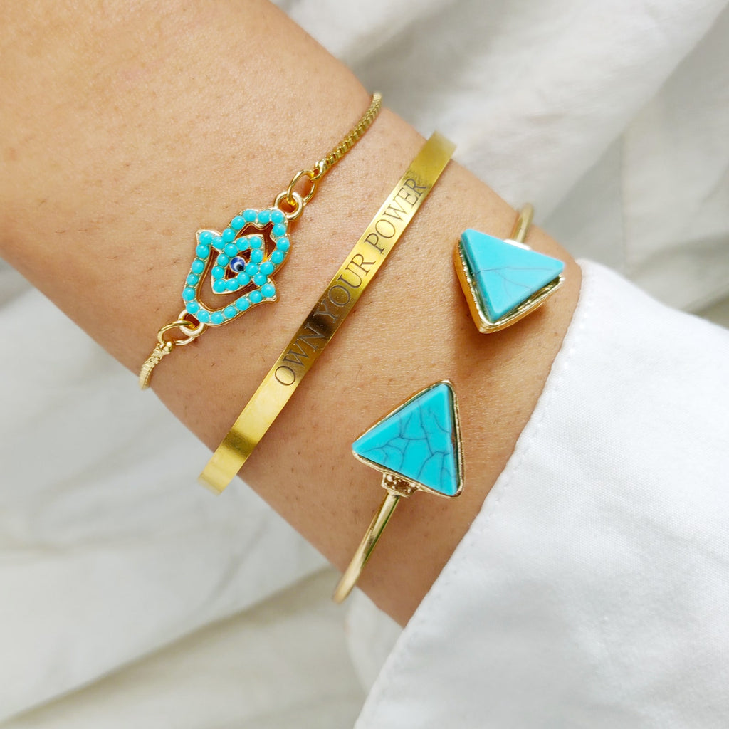 Fiona Set of 3 Gold Bracelets