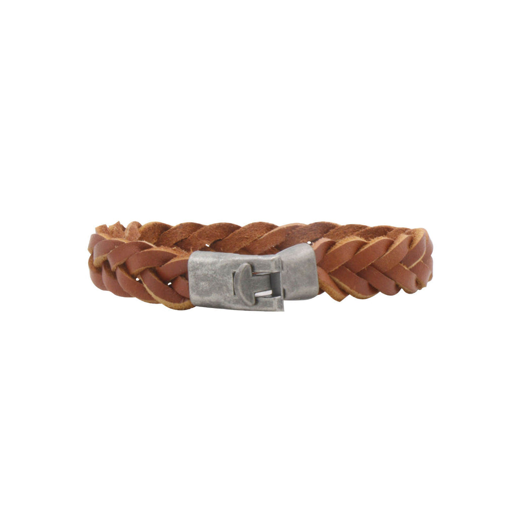 Jack Braided Tan Men's Bracelet