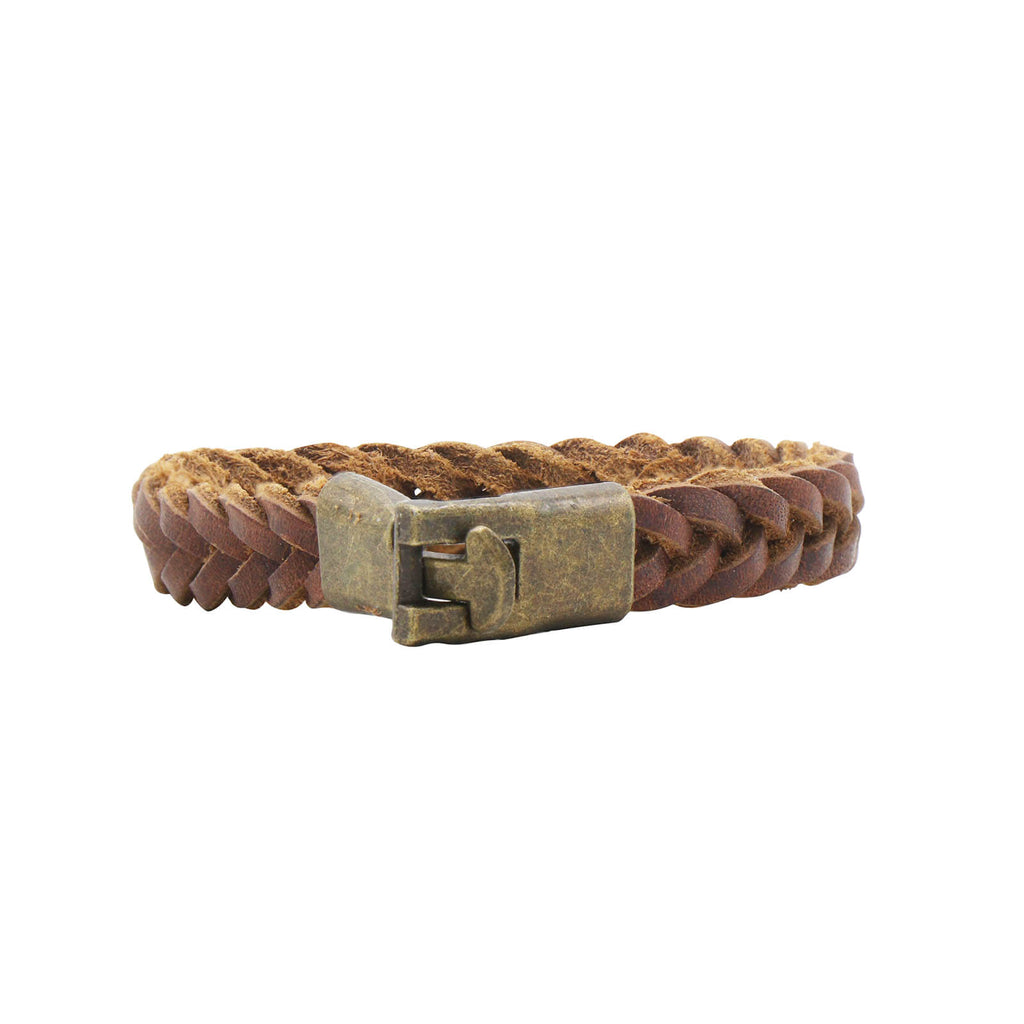 Jack Braided Brown Men's Bracelet