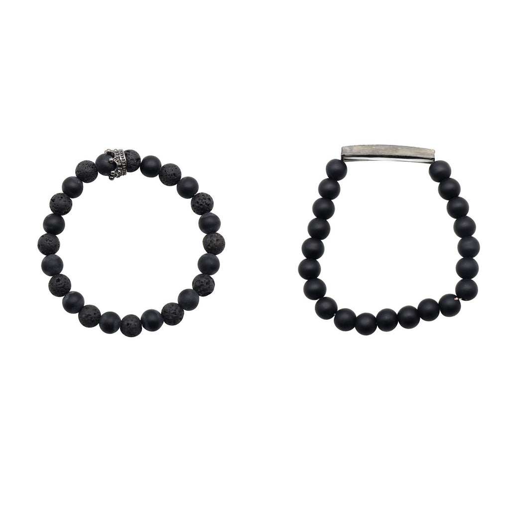 Ash Black Men's Watch Bracelet Stack