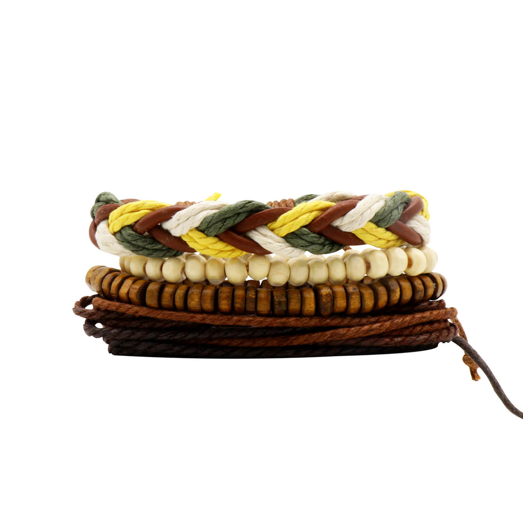 Gypsy Soul Multi-Color Set of 4 Men's Bracelet
