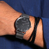 Phantom Silver Men's Watch Bracelet Stack