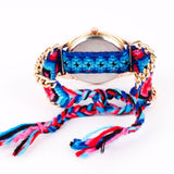 Blue Braided Bracelet Watch