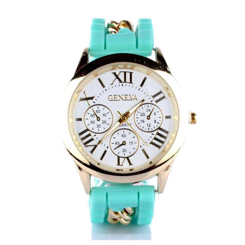 Chained Turquoise Silicone Watch - Joker & Witch - 1