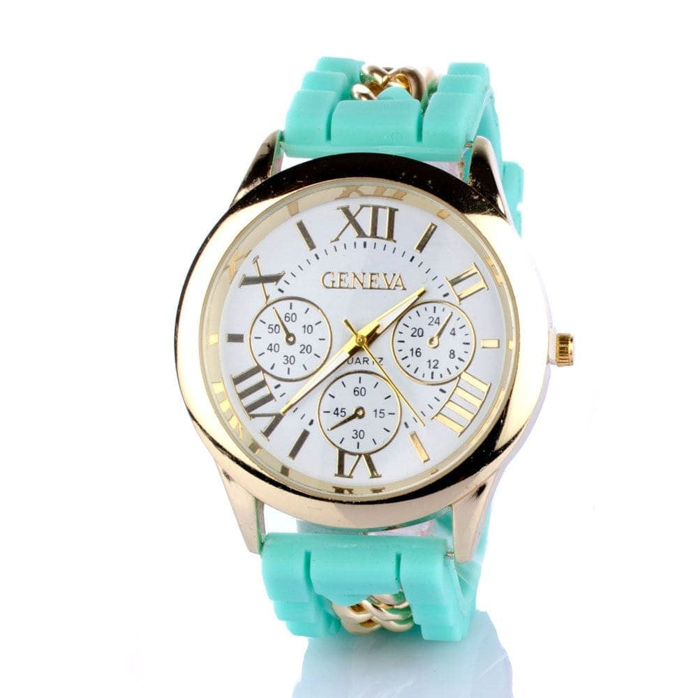 Chained Turquoise Silicone Watch - Joker & Witch - 2