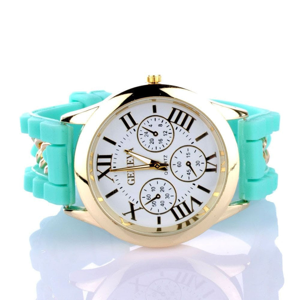 Chained Turquoise Silicone Watch - Joker & Witch - 3