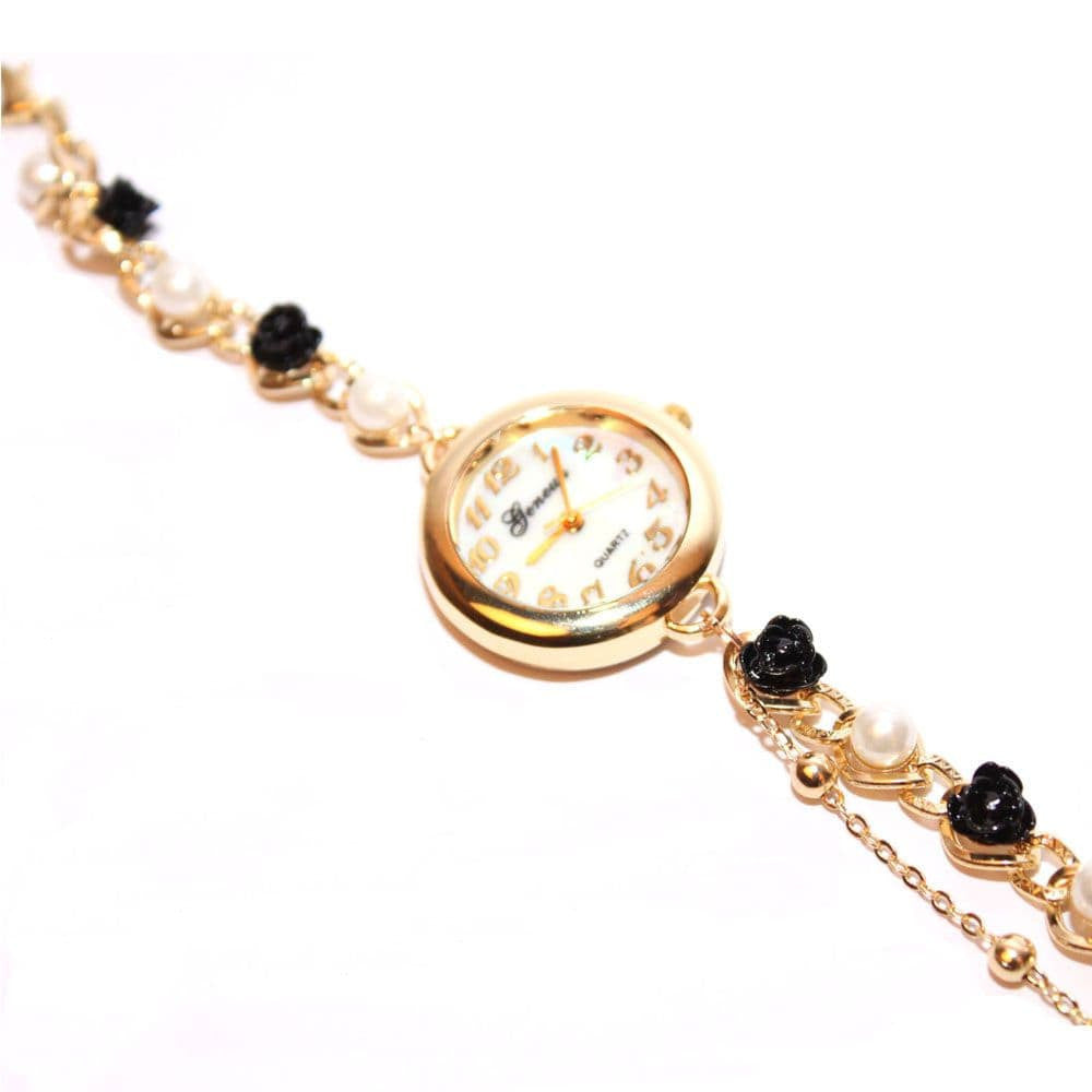 Black & White Rose Pearl watch - Joker & Witch - 4