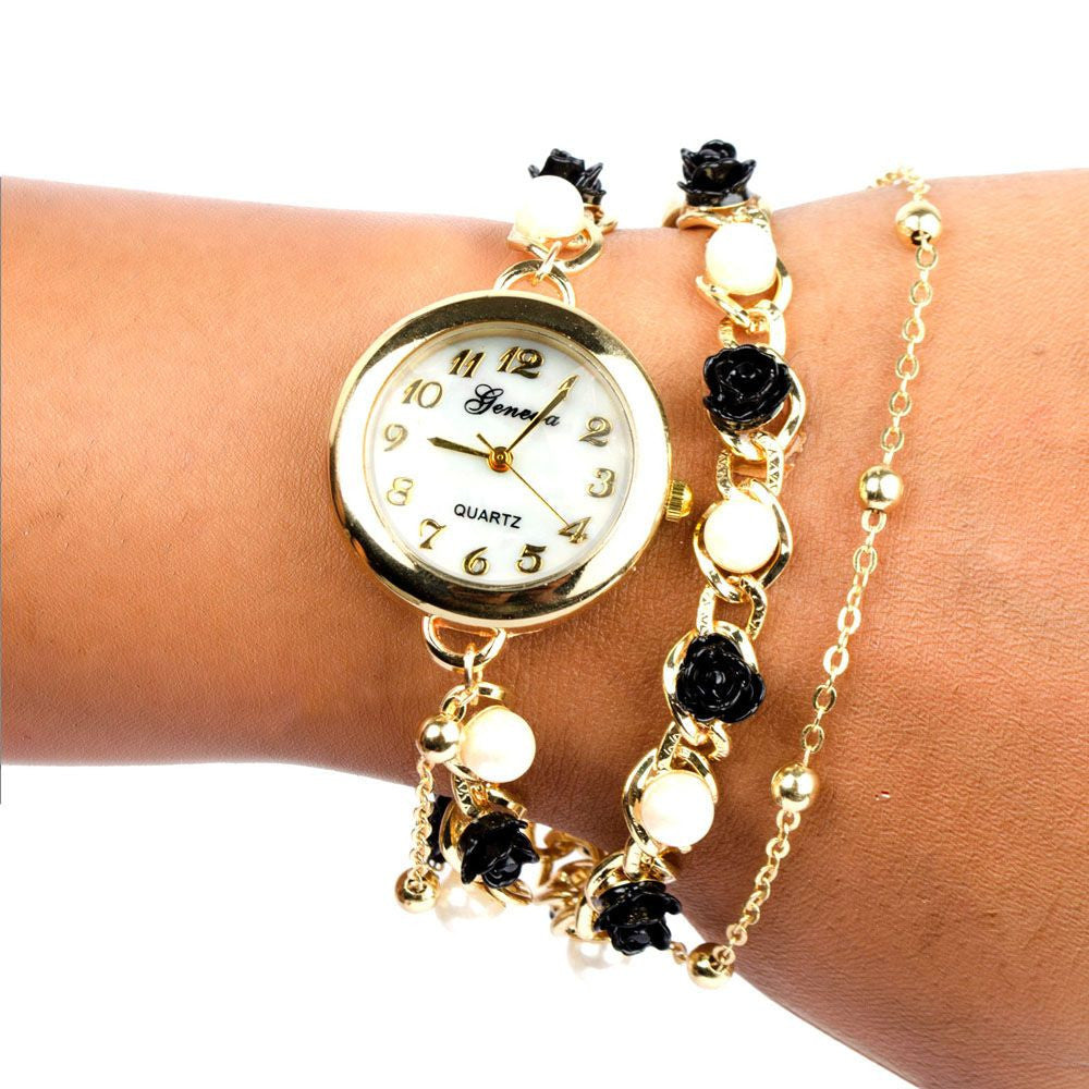 Black & White Rose Pearl watch - Joker & Witch - 1