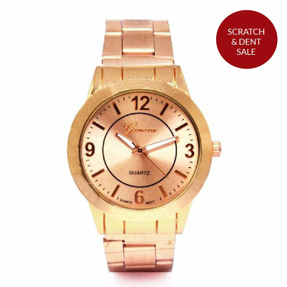 Classic Rosegold Metallic Watch