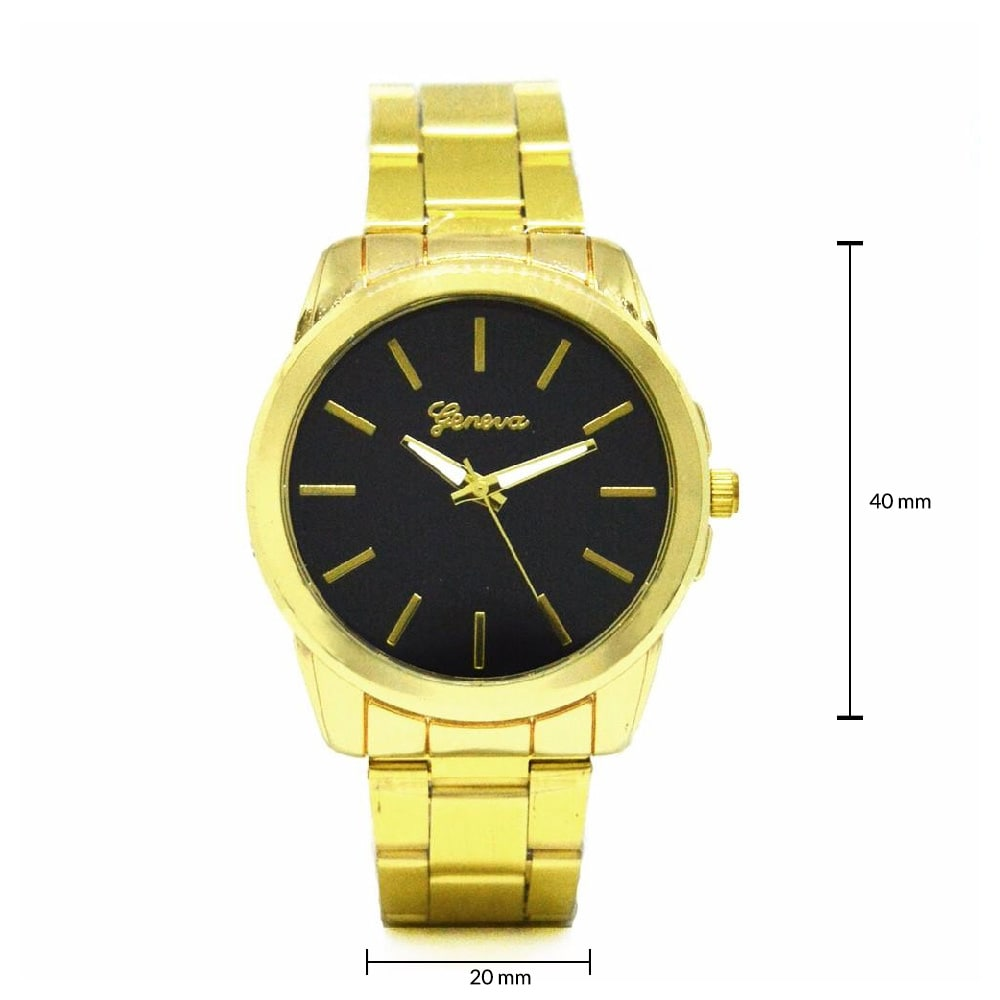 Chunky Black dial Gold Watch - Joker & Witch